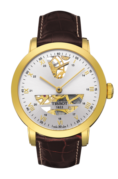 TISSOT SCULPTURE LINE MECHANICAL 18K GOLD